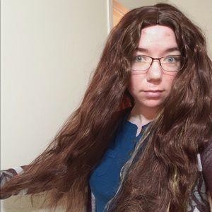 Auburn wavy wig